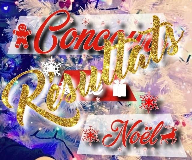 résultats concours de Noël