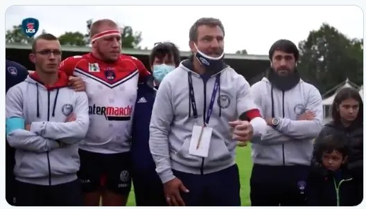 Rugby Nationale ( COGNAC ) : 🎥 Interviews d'après-match de Fabrice Landreau , Loïc Mioche et Thomas Manou
