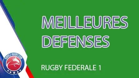 Rugby Fédérale 1 ( STATISTIQUES ) : Quelles sont les meilleures défenses en Fédérale 1 ?
