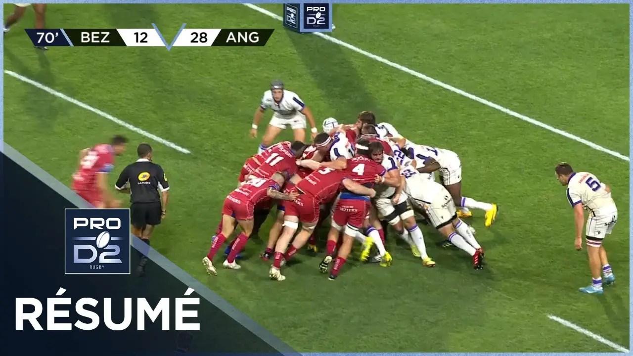 Rugby Pro D2 🎥  : Résumé AS Béziers Hérault-SA XV Charente: 24-28 – J2 – Saison 2020/2021