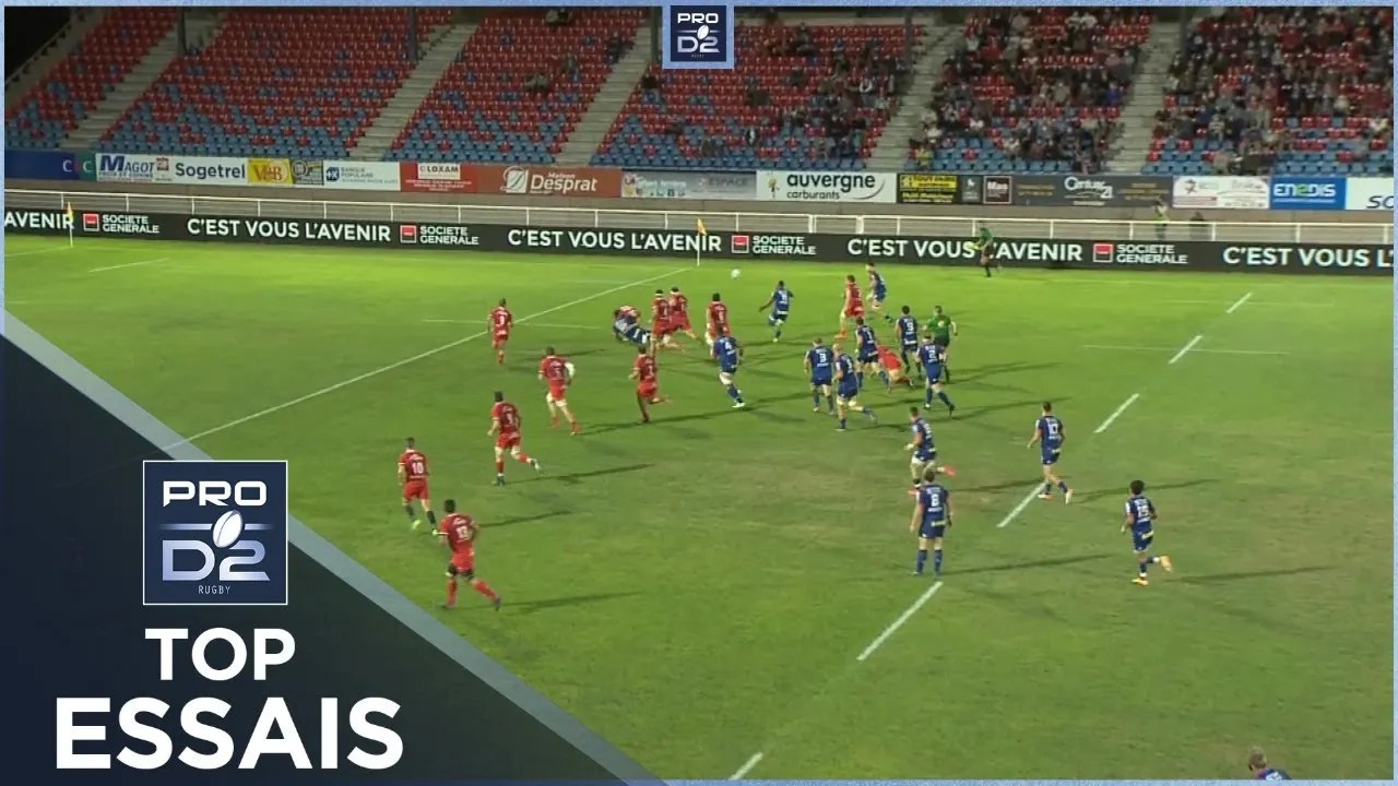 Rugby Pro D2 🎥  : TOP Essais de la J2 – PRO D2 – Saison 2020-2021