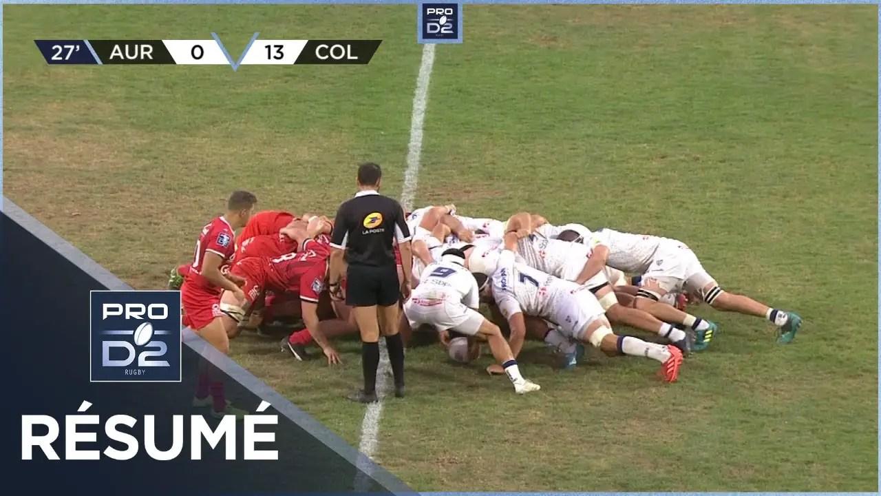 Rugby Pro D2 🎥  : PRO D2 – Résumé Stade Aurillacois-Colomiers Rugby: 14-19 – J3 – Saison 2020/2021