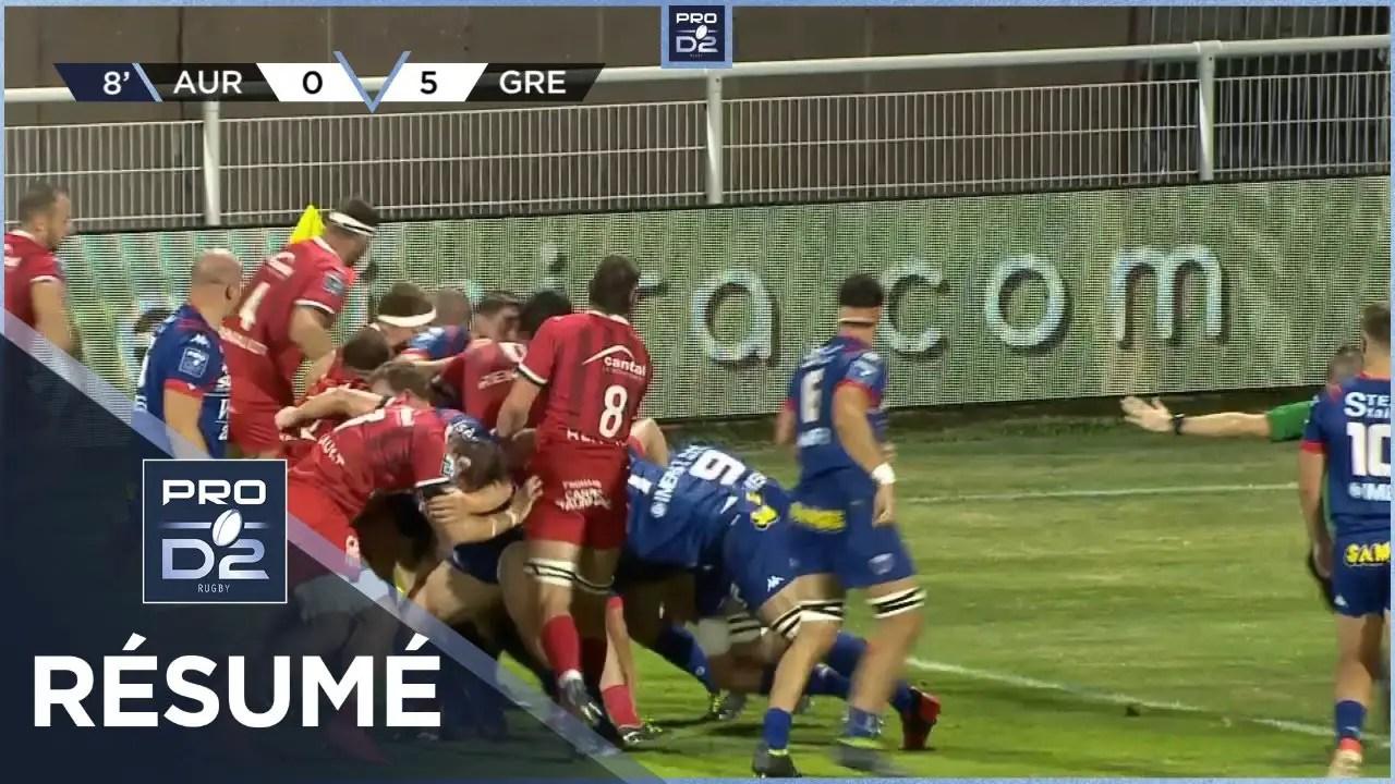 Rugby Pro D2 🎥  : Résumé Stade Aurillacois-FC Grenoble Rugby: 26-13 – J2 – Saison 2020/2021
