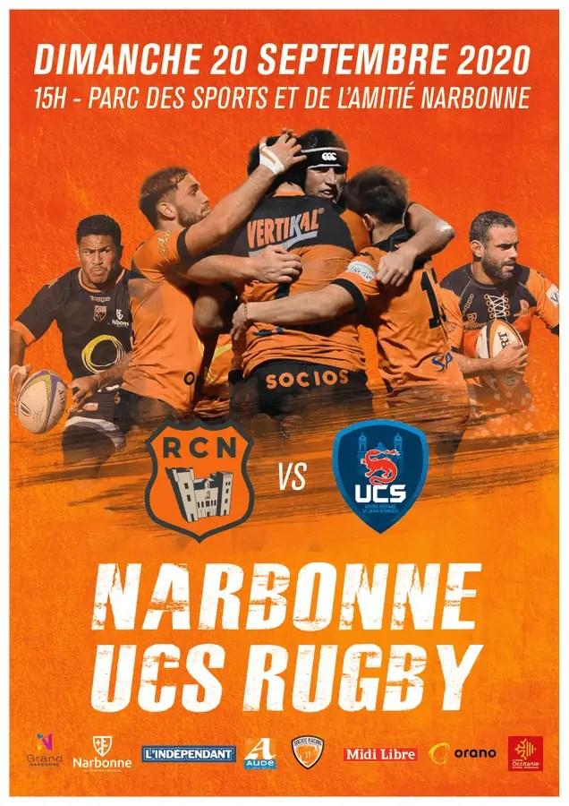 Rugby-Nationale, Narbonne devant à la pause (J2)