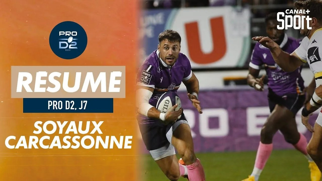 Rugby Pro D2 ( 🎥 Canal + ) : Le résumé de Soyaux-Angoulême / Carcassonne