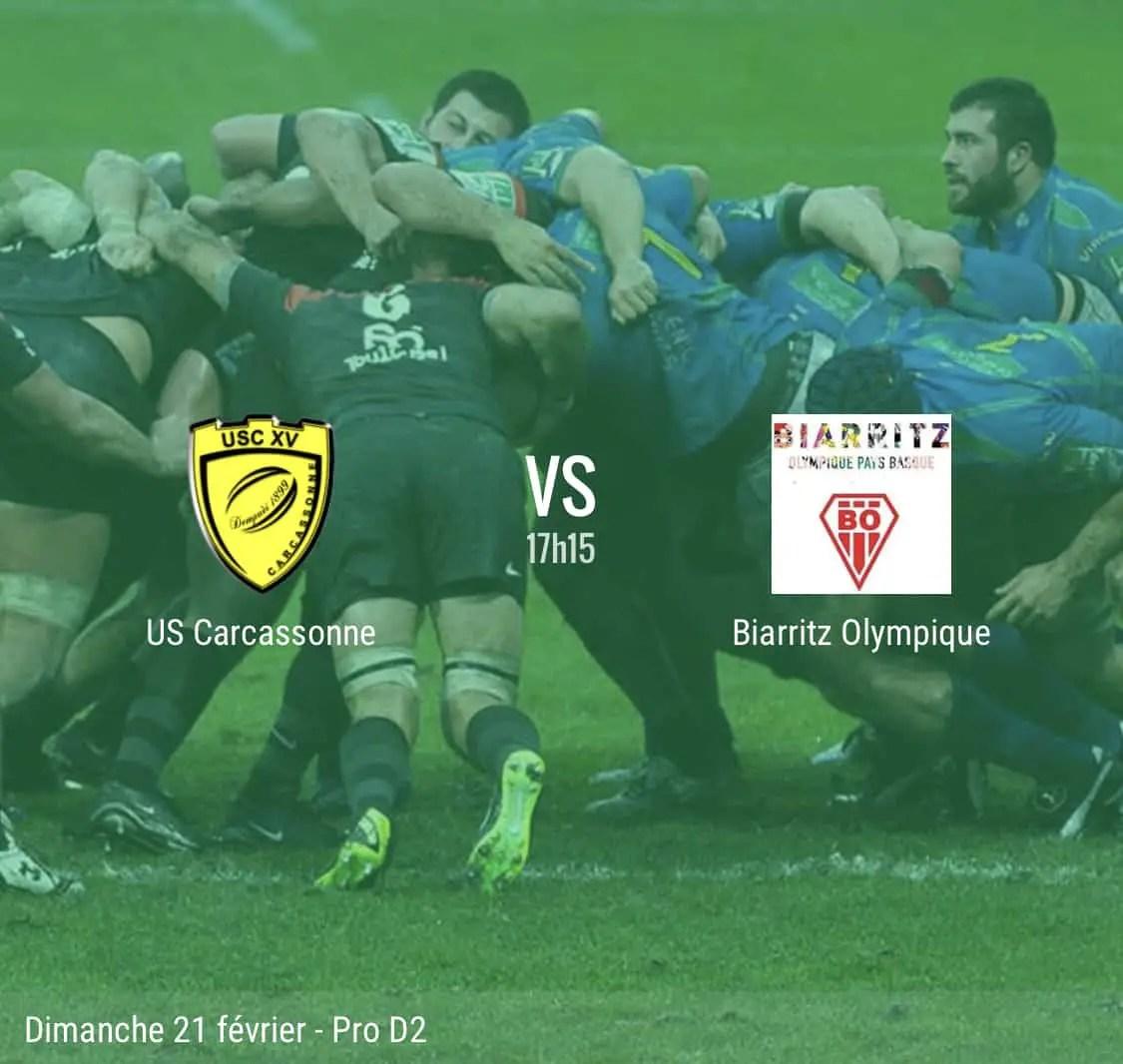 Pro D2 Carcassonne / Biarritz : la compo des deux équipes