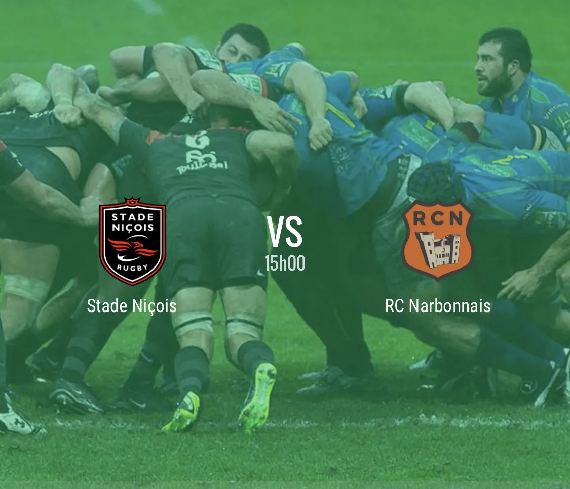 Rugby Nationale : Nice – Narbonne en direct