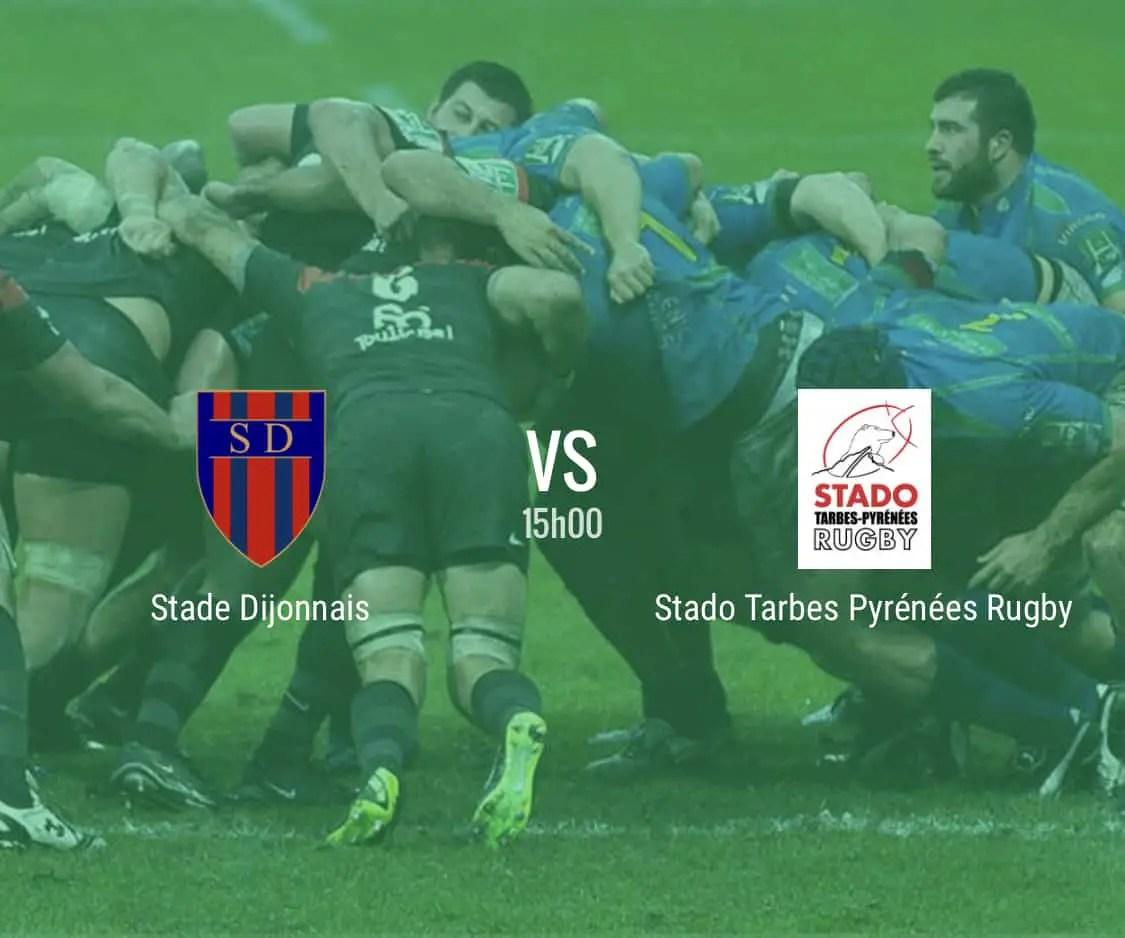 Rugby Nationale : Dijon Tarbes en direct