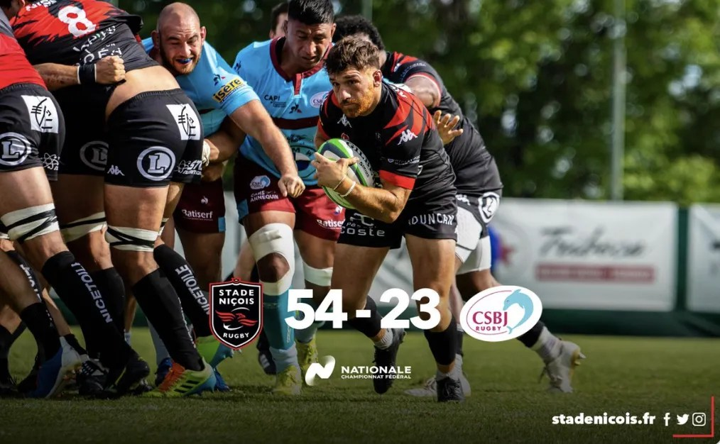 Rugby Nationale : Nice – Bourgoin  ( 54 – 23 )