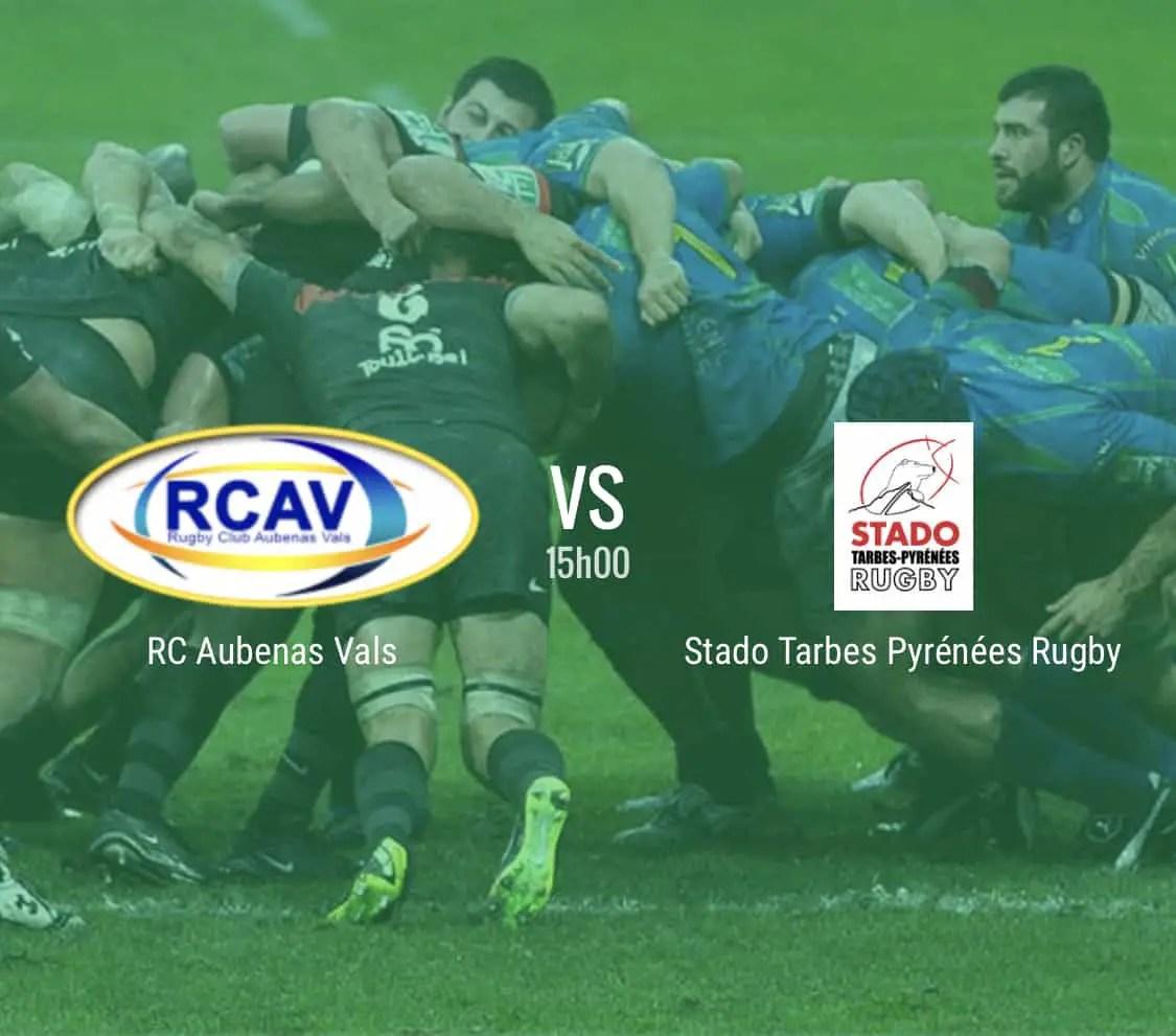 Rugby Nationale : Aubenas – Tarbes en direct