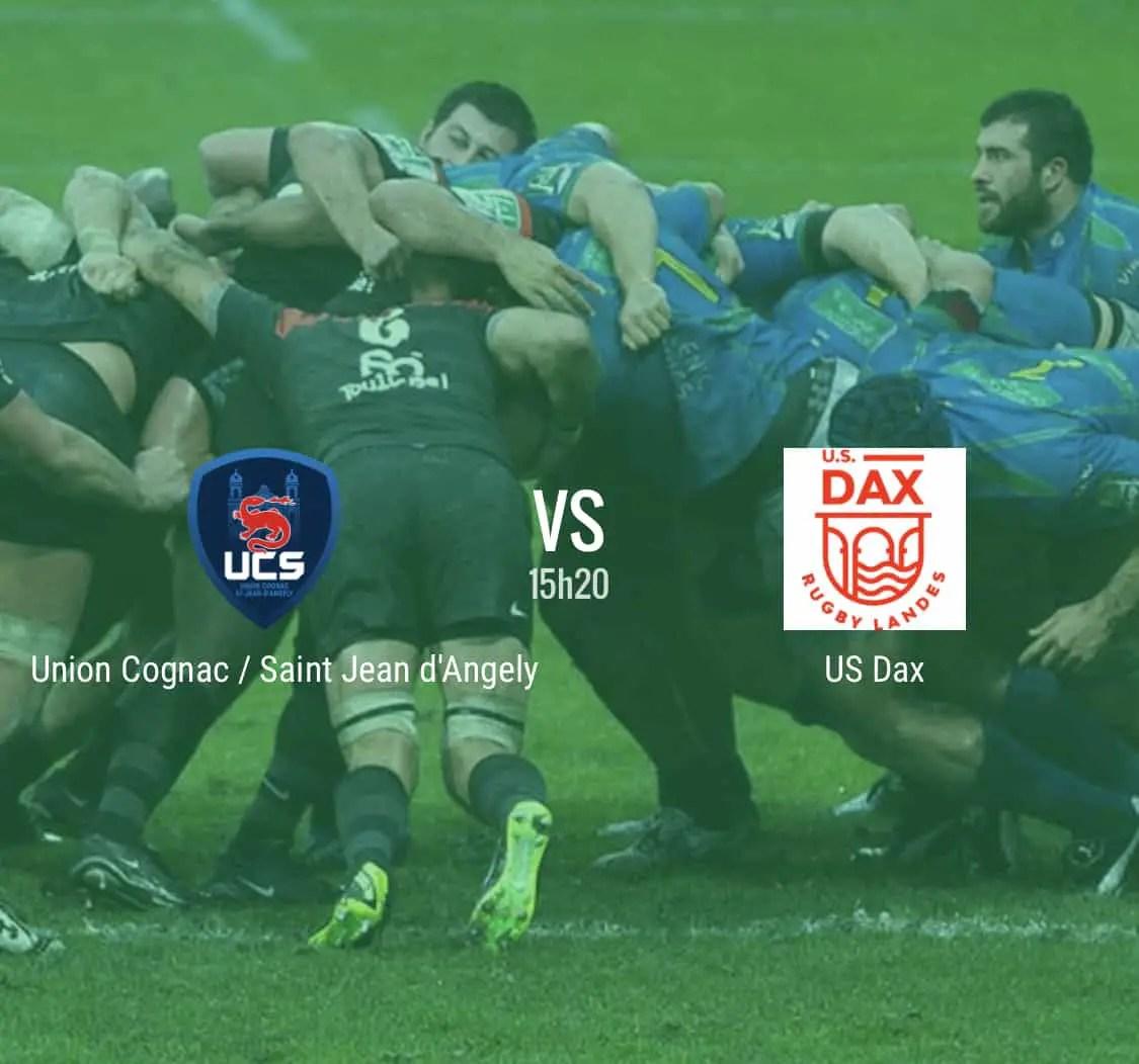 Rugby Nationale : Cognac – Dax en direct