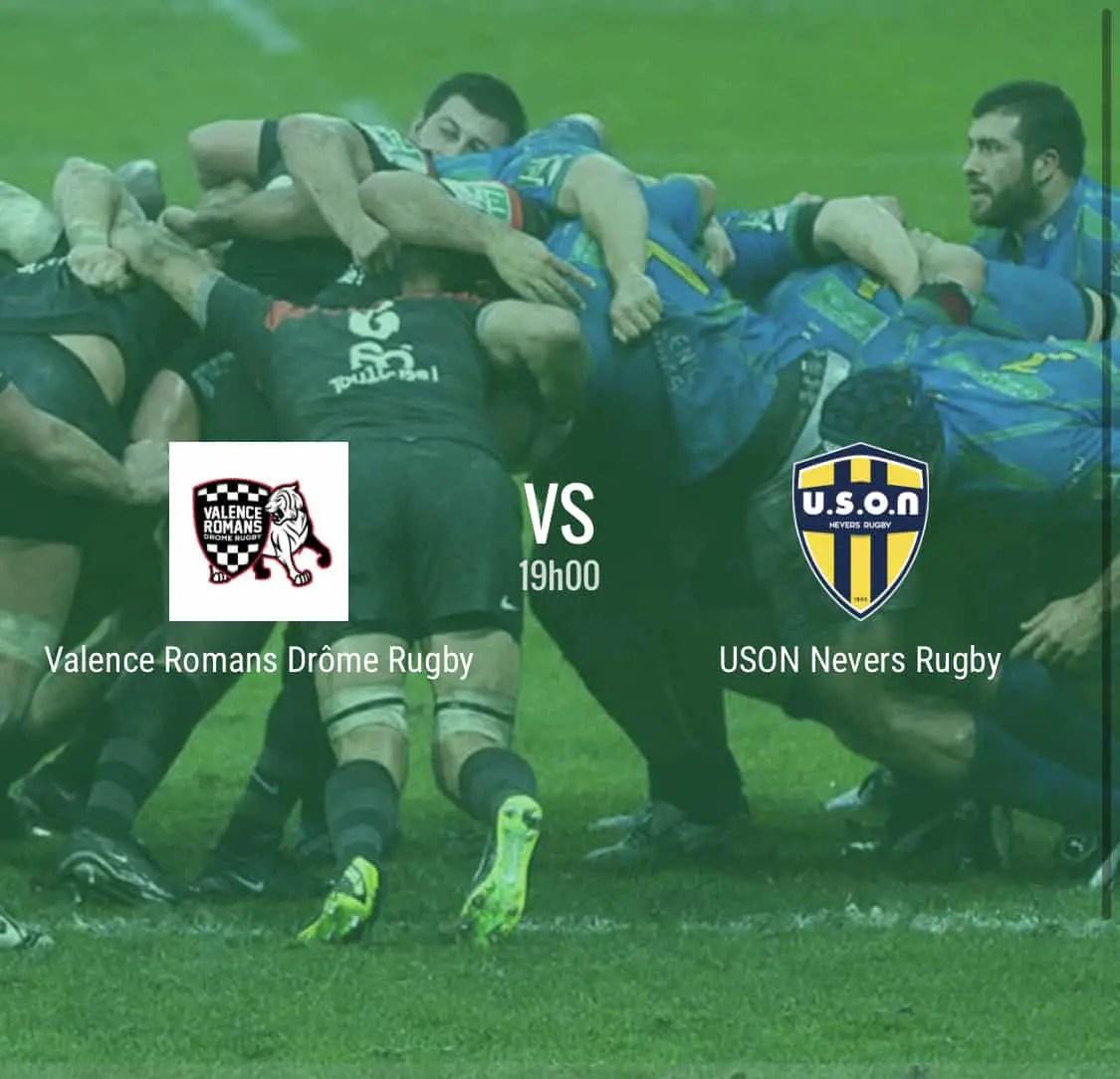 Rugby Pro D2 : Valence Romans – Nevers en direct