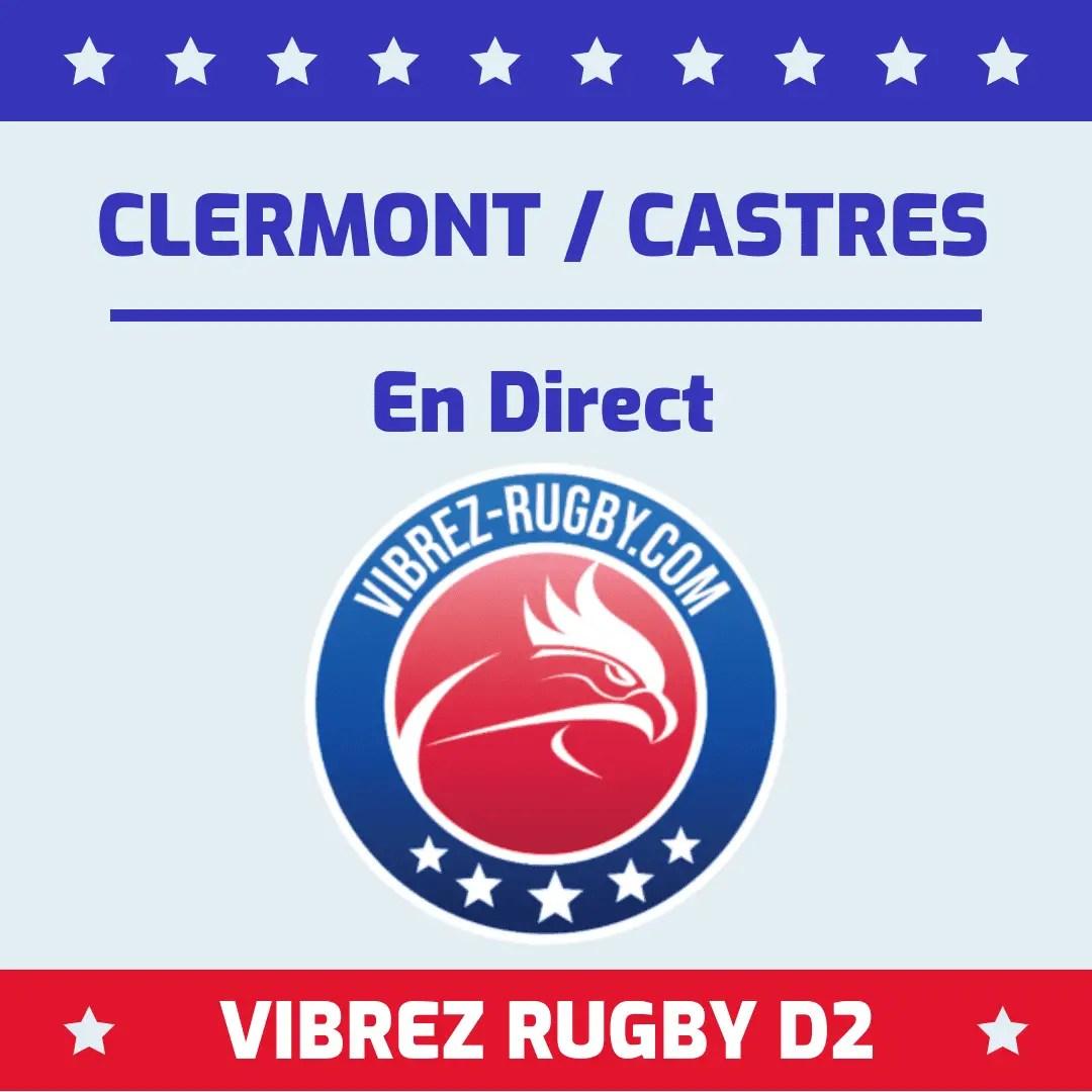Clermont Castres en direct