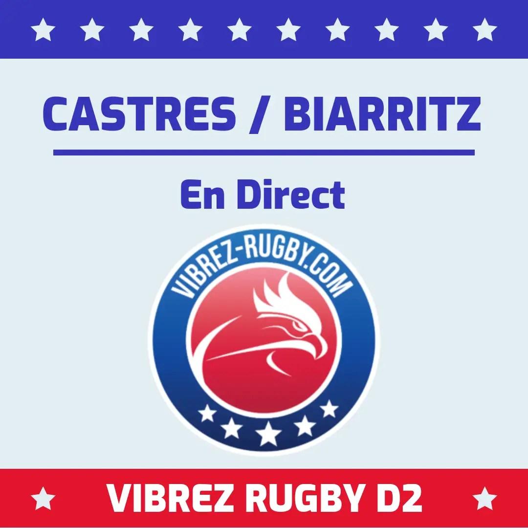 Castres Biarritz en direct