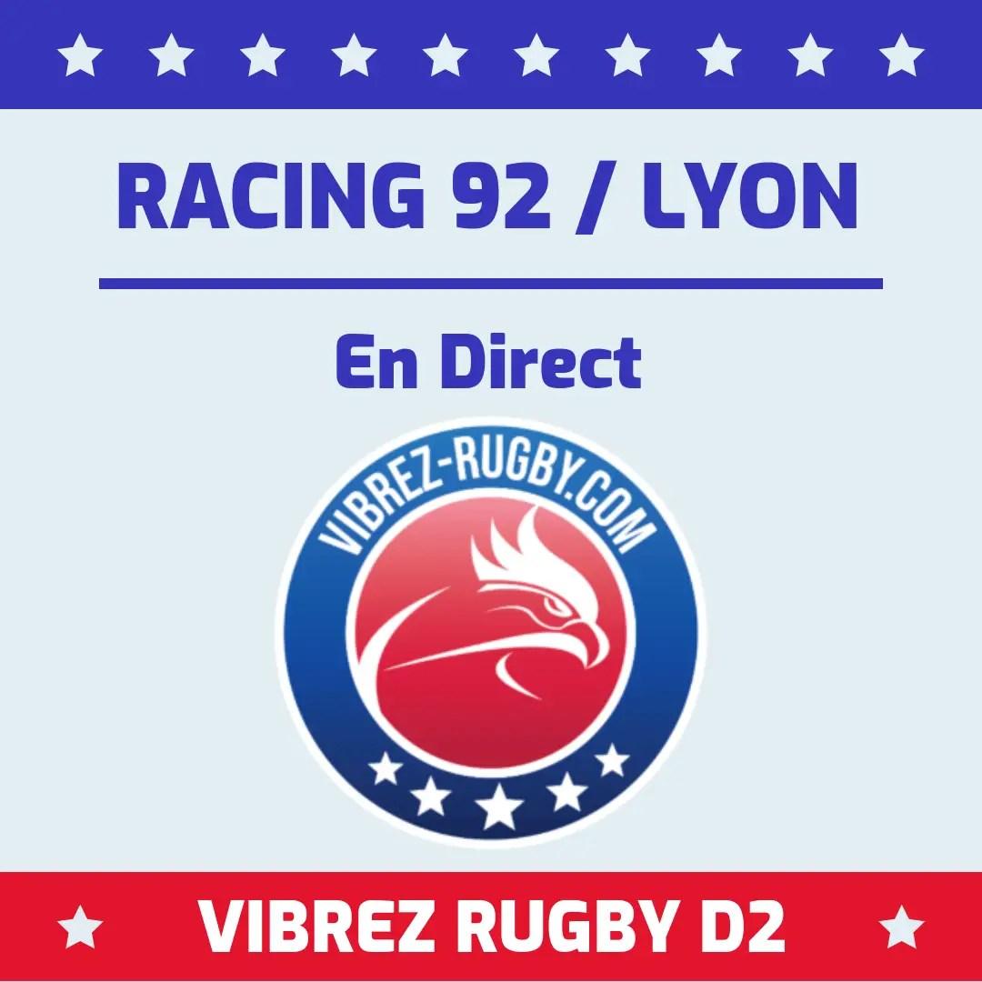 Racing 92 Lyon en direct