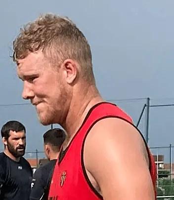Rugby-Nationale, Heath BACKHOUSE (Albi) à l'entraînement.