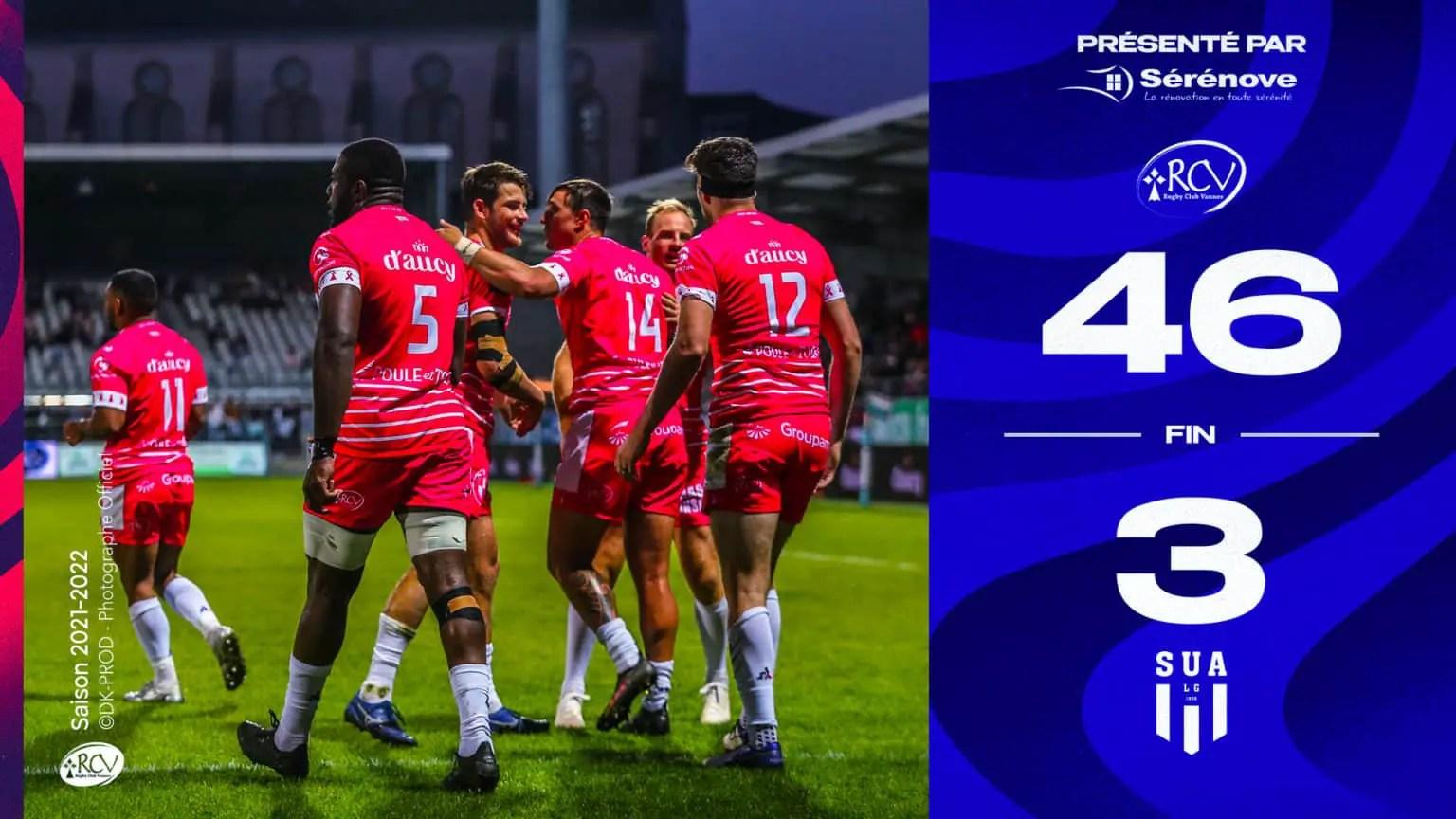Rugby-ProD2 : Vannes gagne enfin et enfonce un peu plus Agen.
