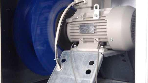 Balancing the radial fan impeller