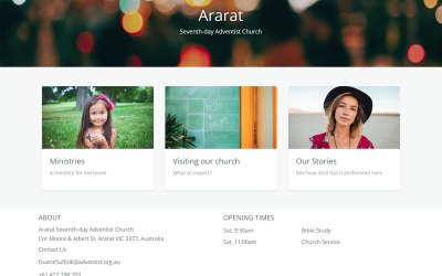 New Website Creator for Adventist Places