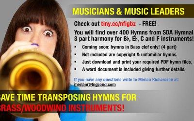 Free Transposed Hymn Music