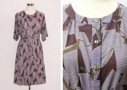 Mauve Printed Dress: US$25