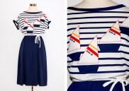 Nautical Print Dress: US$20