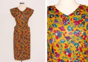 40s Style Printed Dress: US$25