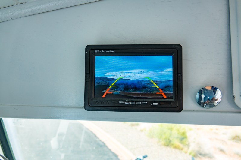 Back Up Camera Monitor Serves as the Rear View Mirror