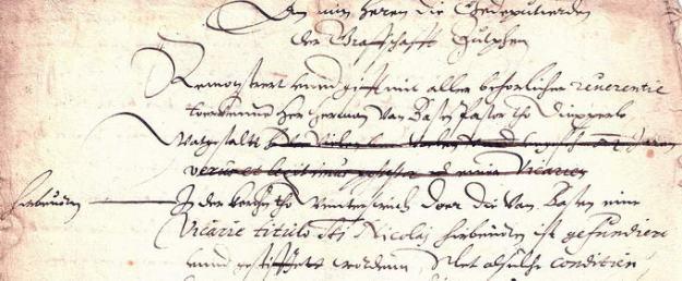 Protestbrief van heer Herman van Basten aan de Gedeputeerden van het Kwartier van Zutphen, 1601.