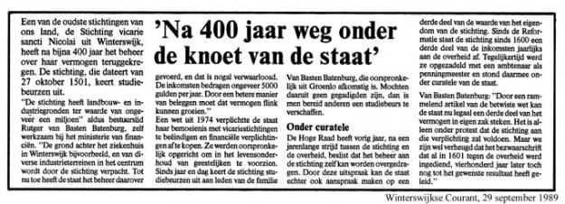 Winterswijkse courant: na 400 jaar weg onder de knoet van de Staat!
