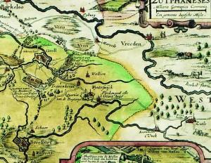 kaart kwartier van Zutphen Visscher 1627 detail