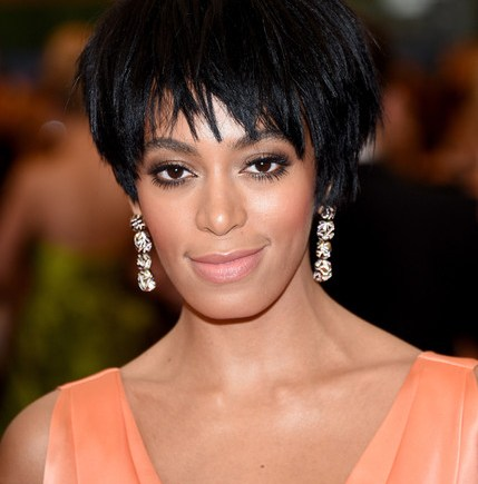 Solange Knowles Attack Jay z Hair stil in place
