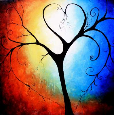 This art forms the ultimate symbol of love with its loving branches