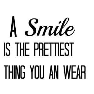Smile A be happier