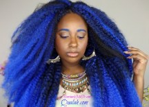 Crochet Braids Blue Ombre Hair
