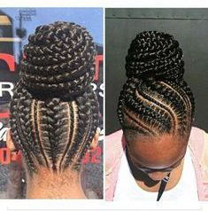 This is very similar to the other style practically the same but the braids in the back are a tab bit different.