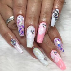 flower design coffin nails