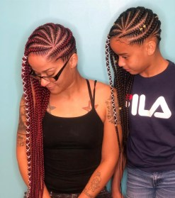 Feedin braid hairstyles for black hair