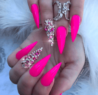 Gorgeous stiletto nail designs for the summer