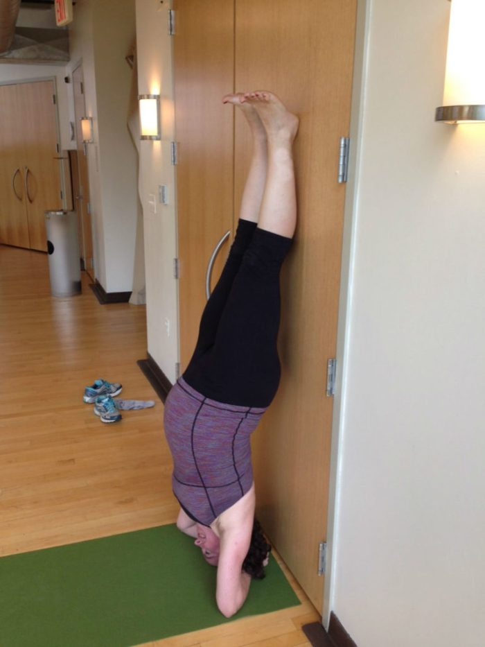 Still popping up into forearm stand.