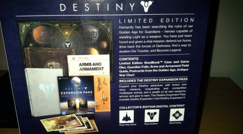 Destiny PS4 Limited Edition unboxing