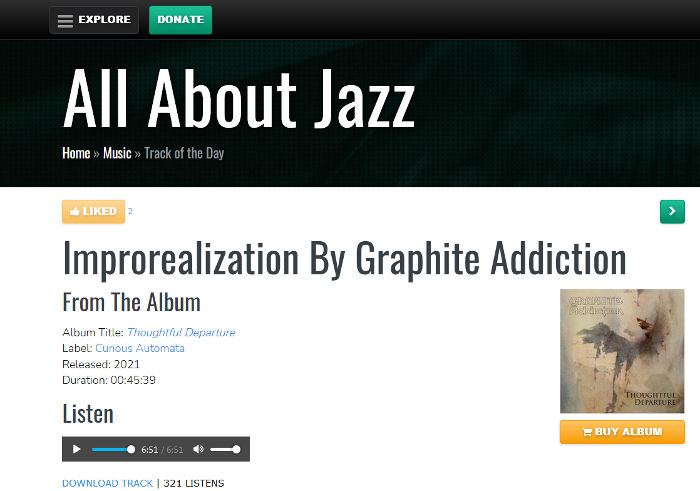 screenshot of the All About Jazz website