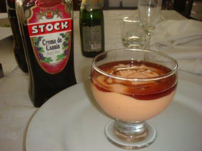 Creme de Papaia com Licor de Cassis