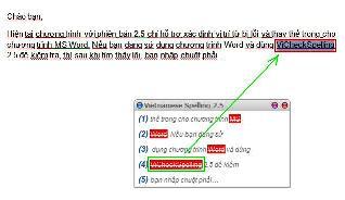 Sử dụng phiên bản 2.5 với MS Word 97