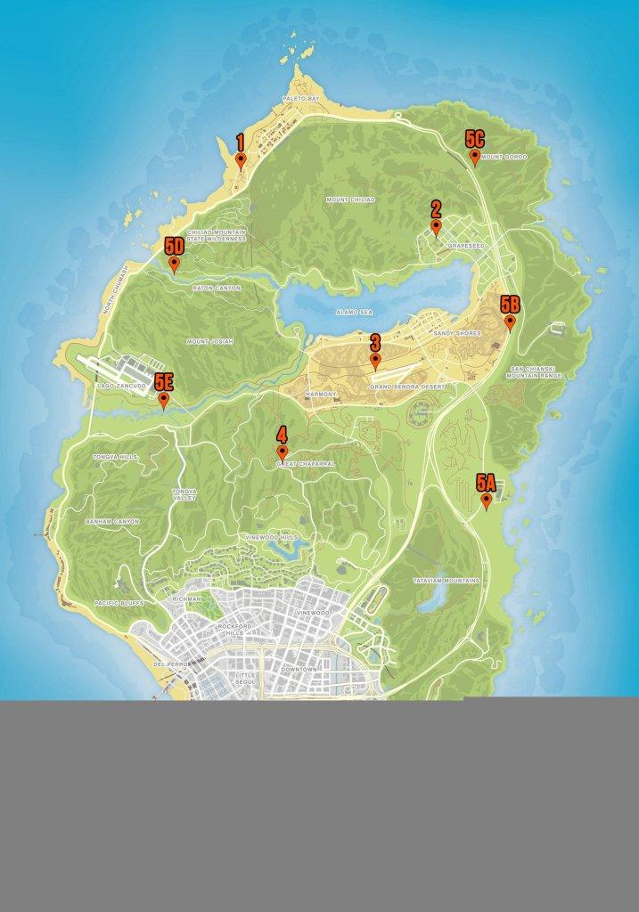 Localizações do Serial Killer em GTA Online