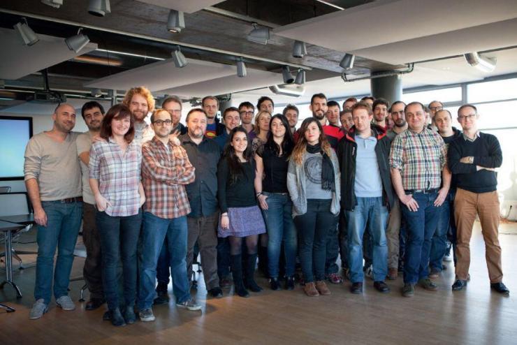 Equipe editorial da Ubisoft em 2014.