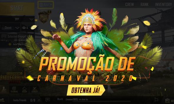 Está na hora de entrar na folia da melhor experiência de battle royale nos celulares: chegaram ao PUBG MOBILE as novas skins de Carnaval!