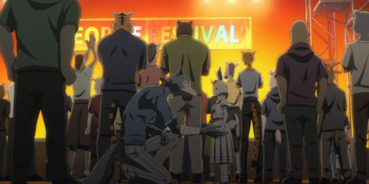 Cena do último episódio de Beastars