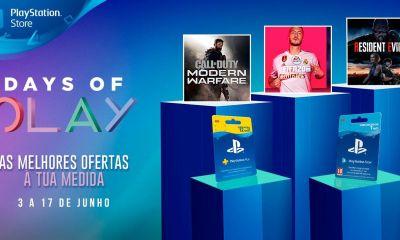 A Sony anuncia a partir de hoje a continuação da campanha Days of Play através da PlayStation Store, como novos jogos em preços incriveis.