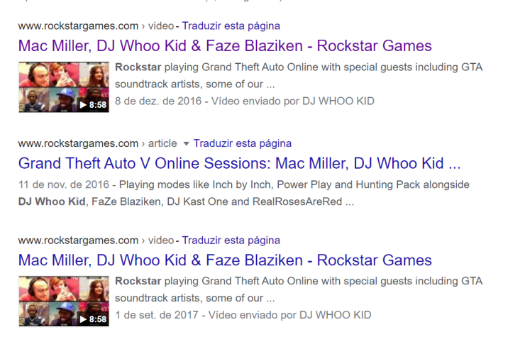 DJ  Whoo Kid é uma presença constante nas lives da Rockstar Games.